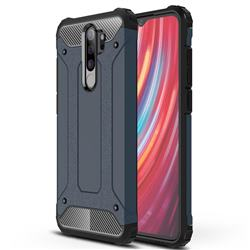 King Kong Armor Premium Shockproof Dual Layer Rugged Hard Cover for Mi Xiaomi Redmi Note 8 Pro - Navy