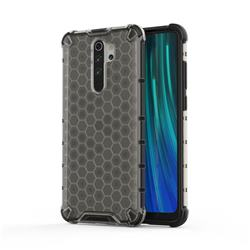 Honeycomb TPU + PC Hybrid Armor Shockproof Case Cover for Mi Xiaomi Redmi Note 8 Pro - Gray
