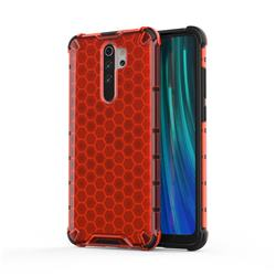 Honeycomb TPU + PC Hybrid Armor Shockproof Case Cover for Mi Xiaomi Redmi Note 8 Pro - Red