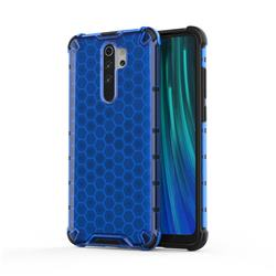Honeycomb TPU + PC Hybrid Armor Shockproof Case Cover for Mi Xiaomi Redmi Note 8 Pro - Blue