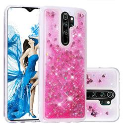 Dynamic Liquid Glitter Quicksand Sequins TPU Phone Case for Mi Xiaomi Redmi Note 8 Pro - Rose