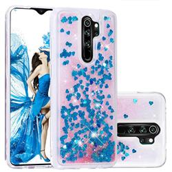 Dynamic Liquid Glitter Quicksand Sequins TPU Phone Case for Mi Xiaomi Redmi Note 8 Pro - Blue
