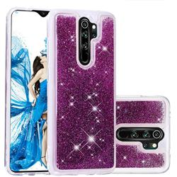 Dynamic Liquid Glitter Quicksand Sequins TPU Phone Case for Mi Xiaomi Redmi Note 8 Pro - Purple