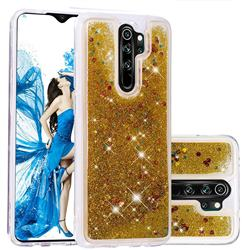 Dynamic Liquid Glitter Quicksand Sequins TPU Phone Case for Mi Xiaomi Redmi Note 8 Pro - Golden