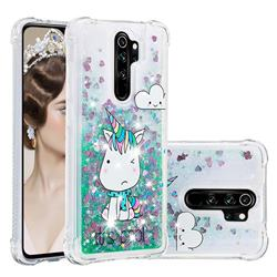 Tiny Unicorn Dynamic Liquid Glitter Sand Quicksand Star TPU Case for Mi Xiaomi Redmi Note 8 Pro