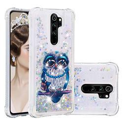 Sweet Gray Owl Dynamic Liquid Glitter Sand Quicksand Star TPU Case for Mi Xiaomi Redmi Note 8 Pro