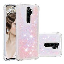 Dynamic Liquid Glitter Sand Quicksand TPU Case for Mi Xiaomi Redmi Note 8 Pro - Silver Powder Star