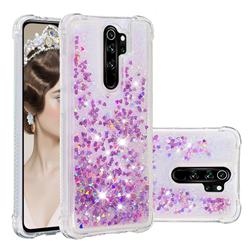 Dynamic Liquid Glitter Sand Quicksand Star TPU Case for Mi Xiaomi Redmi Note 8 Pro - Rose