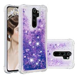 Dynamic Liquid Glitter Sand Quicksand Star TPU Case for Mi Xiaomi Redmi Note 8 Pro - Purple