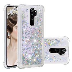Dynamic Liquid Glitter Sand Quicksand Star TPU Case for Mi Xiaomi Redmi Note 8 Pro - Silver