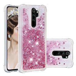 Dynamic Liquid Glitter Sand Quicksand Star TPU Case for Mi Xiaomi Redmi Note 8 Pro - Diamond Rose