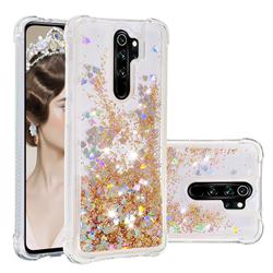 Dynamic Liquid Glitter Sand Quicksand Star TPU Case for Mi Xiaomi Redmi Note 8 Pro - Diamond Gold