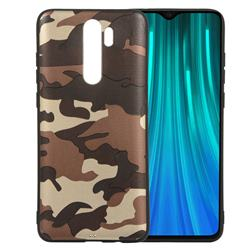 Camouflage Soft TPU Back Cover for Mi Xiaomi Redmi Note 8 Pro - Gold Coffee