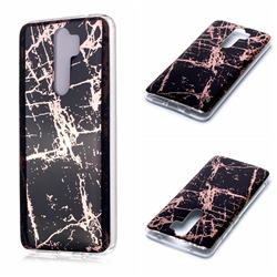 Black Galvanized Rose Gold Marble Phone Back Cover for Mi Xiaomi Redmi Note 8 Pro