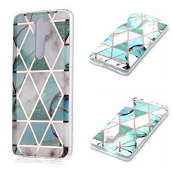 Green White Galvanized Rose Gold Marble Phone Back Cover for Mi Xiaomi Redmi Note 8 Pro