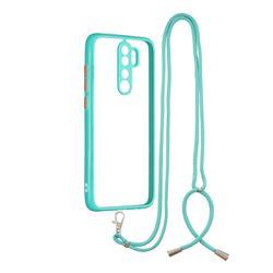 Necklace Cross-body Lanyard Strap Cord Phone Case Cover for Mi Xiaomi Redmi Note 8 Pro - Blue