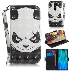 Angry Bear 3D Painted Leather Wallet Phone Case for Mi Xiaomi Redmi Note 8 Pro