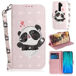 Heart Cat 3D Painted Leather Wallet Phone Case for Mi Xiaomi Redmi Note 8 Pro