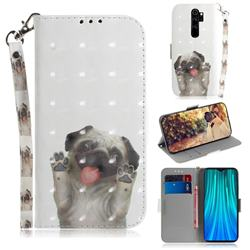 Pug Dog 3D Painted Leather Wallet Phone Case for Mi Xiaomi Redmi Note 8 Pro