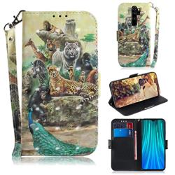 Beast Zoo 3D Painted Leather Wallet Phone Case for Mi Xiaomi Redmi Note 8 Pro