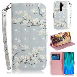 Magnolia Flower 3D Painted Leather Wallet Phone Case for Mi Xiaomi Redmi Note 8 Pro