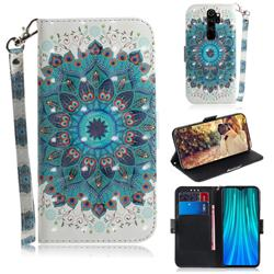 Peacock Mandala 3D Painted Leather Wallet Phone Case for Mi Xiaomi Redmi Note 8 Pro