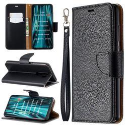 Classic Luxury Litchi Leather Phone Wallet Case for Mi Xiaomi Redmi Note 8 Pro - Black