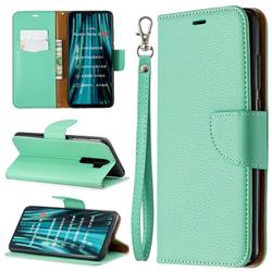 Classic Luxury Litchi Leather Phone Wallet Case for Mi Xiaomi Redmi Note 8 Pro - Green