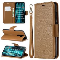 Classic Luxury Litchi Leather Phone Wallet Case for Mi Xiaomi Redmi Note 8 Pro - Brown