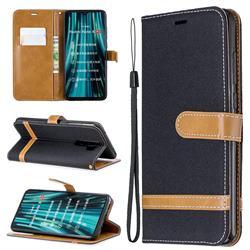 Jeans Cowboy Denim Leather Wallet Case for Mi Xiaomi Redmi Note 8 Pro - Black