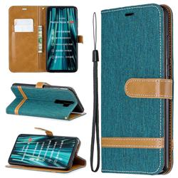 Jeans Cowboy Denim Leather Wallet Case for Mi Xiaomi Redmi Note 8 Pro - Green