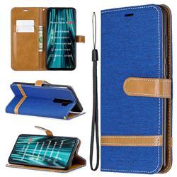 Jeans Cowboy Denim Leather Wallet Case for Mi Xiaomi Redmi Note 8 Pro - Sapphire