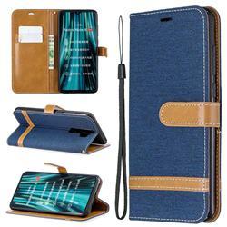 Jeans Cowboy Denim Leather Wallet Case for Mi Xiaomi Redmi Note 8 Pro - Dark Blue