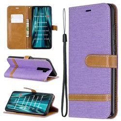 Jeans Cowboy Denim Leather Wallet Case for Mi Xiaomi Redmi Note 8 Pro - Purple