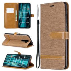 Jeans Cowboy Denim Leather Wallet Case for Mi Xiaomi Redmi Note 8 Pro - Brown