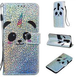 Panda Unicorn Sequins Painted Leather Wallet Case for Mi Xiaomi Redmi Note 8 Pro