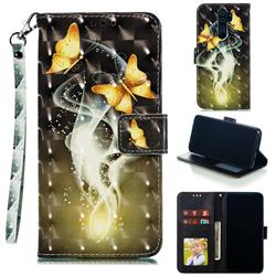 Dream Butterfly 3D Painted Leather Phone Wallet Case for Mi Xiaomi Redmi Note 8 Pro