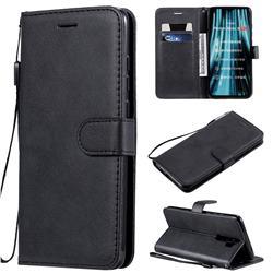 Retro Greek Classic Smooth PU Leather Wallet Phone Case for Mi Xiaomi Redmi Note 8 Pro - Black