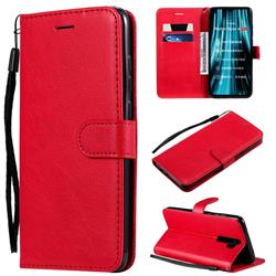 Retro Greek Classic Smooth PU Leather Wallet Phone Case for Mi Xiaomi Redmi Note 8 Pro - Red