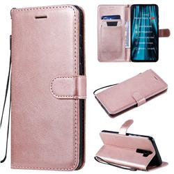 Retro Greek Classic Smooth PU Leather Wallet Phone Case for Mi Xiaomi Redmi Note 8 Pro - Rose Gold