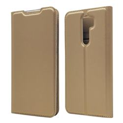 Ultra Slim Card Magnetic Automatic Suction Leather Wallet Case for Mi Xiaomi Redmi Note 8 Pro - Champagne