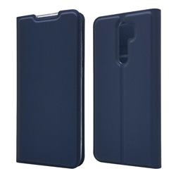 Ultra Slim Card Magnetic Automatic Suction Leather Wallet Case for Mi Xiaomi Redmi Note 8 Pro - Royal Blue