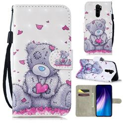 Love Panda 3D Painted Leather Wallet Phone Case for Mi Xiaomi Redmi Note 8 Pro