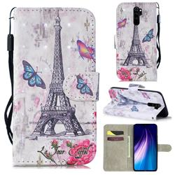 Paris Tower 3D Painted Leather Wallet Phone Case for Mi Xiaomi Redmi Note 8 Pro