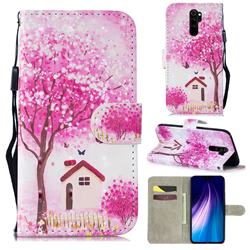 Tree House 3D Painted Leather Wallet Phone Case for Mi Xiaomi Redmi Note 8 Pro