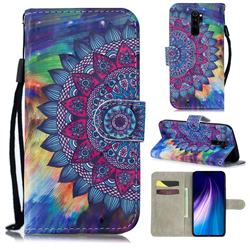 Oil Painting Mandala 3D Painted Leather Wallet Phone Case for Mi Xiaomi Redmi Note 8 Pro