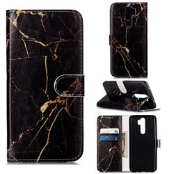 Black Gold Marble PU Leather Wallet Case for Mi Xiaomi Redmi Note 8 Pro