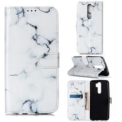 Soft White Marble PU Leather Wallet Case for Mi Xiaomi Redmi Note 8 Pro