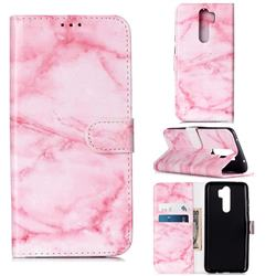 Pink Marble PU Leather Wallet Case for Mi Xiaomi Redmi Note 8 Pro