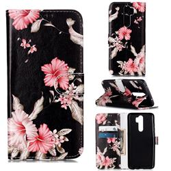 Azalea Flower PU Leather Wallet Case for Mi Xiaomi Redmi Note 8 Pro